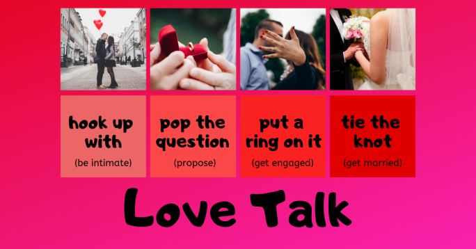 English vocabulary for love and romantic relationships