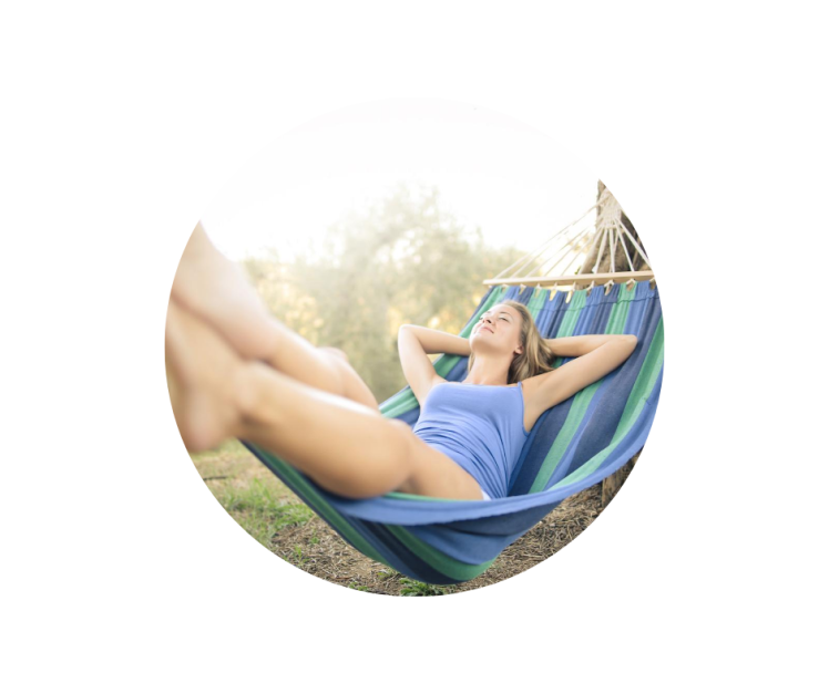 Sit back and relax in a hammock. That's what you do on vacation!