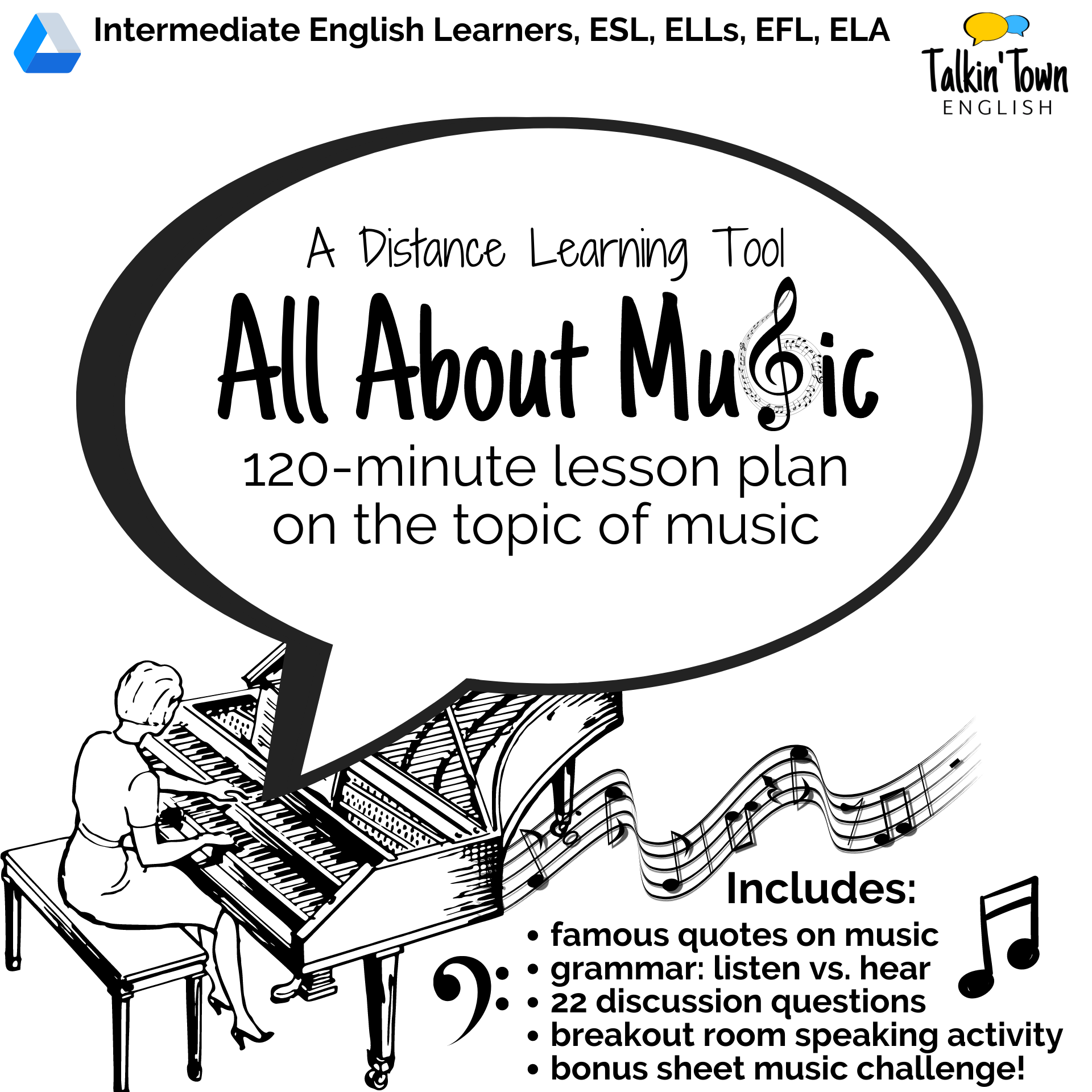 ESL lesson plan about music