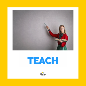 Irregular verb flashcard TEACH