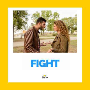 Irregular verb flashcard FIGHT