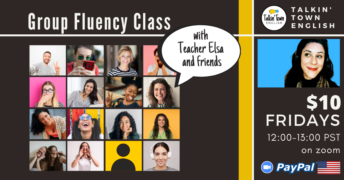 Weekly english conversation class for fluency